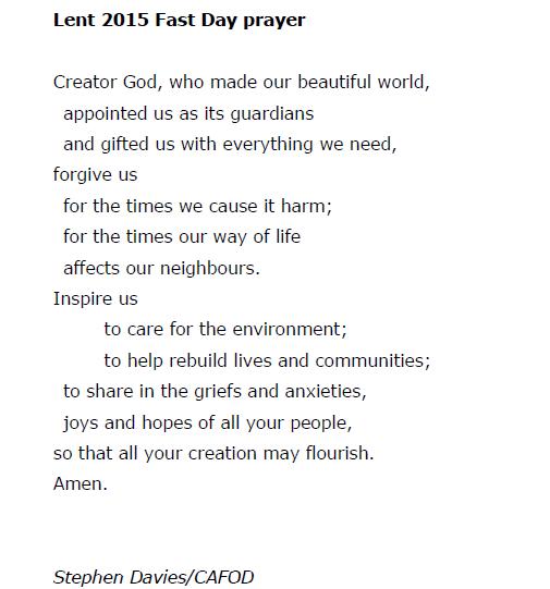 Lent 2015 Fast Day Prayer